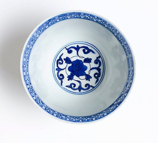 An image of Bowl with a design of phoenixes and peonies by