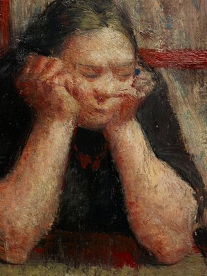 Alternate image of Woman watching a funeral by William Dobell