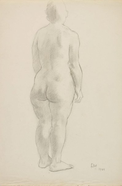 An image of (Female nude, from rear) by Roland Wakelin