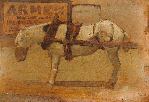 An image of Sketch of a horse, Paris by George W Lambert