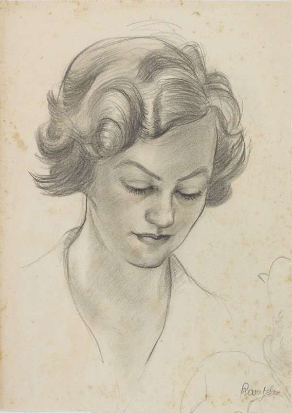 An image of (Female head study)
