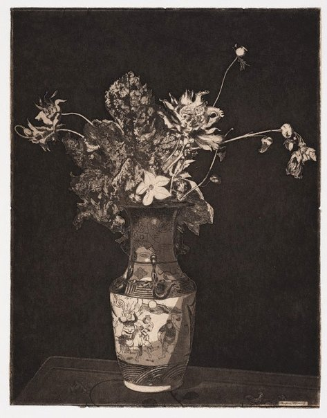 An image of The agony of flowers by Théodore Roussel