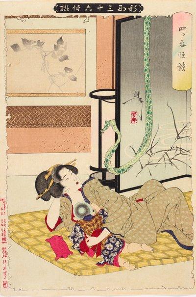 An image of The Yotsuya ghost story by Tsukioka Yoshitoshi