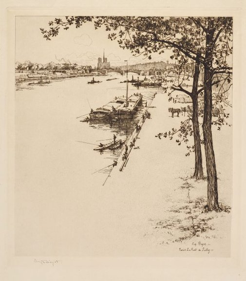 An image of Paris, Le Pont de Sully by Eugène Béjot