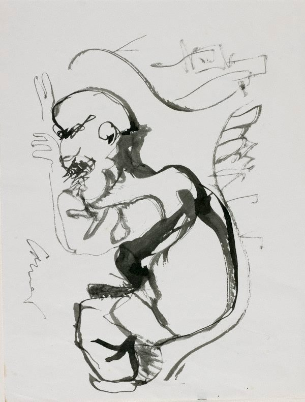 An image of Haymarket drawing (Crouching man)