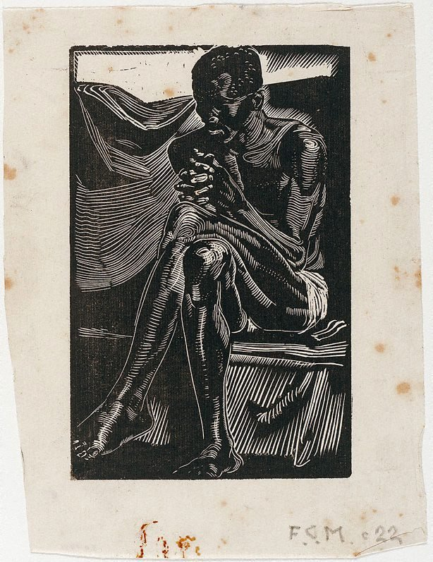 An image of Untitled (Negro seated, with hands clasped)