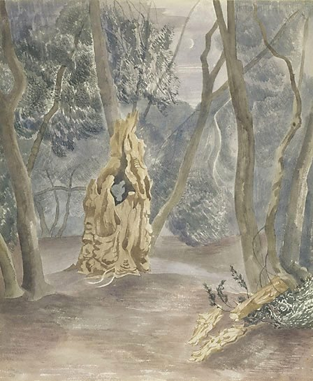 An image of Night in the forest by John Northcote Nash