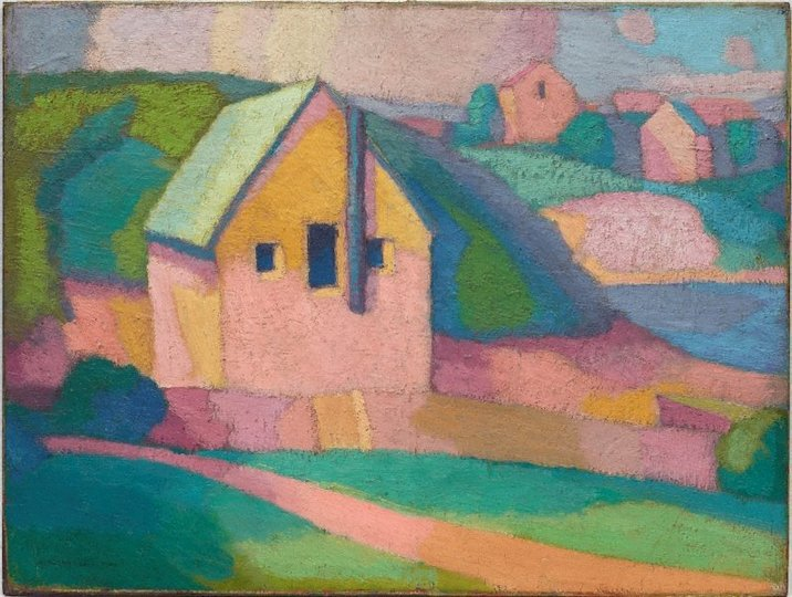 AGNSW collection Roland Wakelin Syncromy in orange major (1919) 50.1985