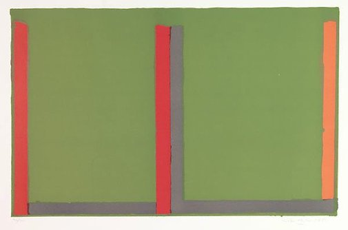 An image of Large Swiss green by John Hoyland