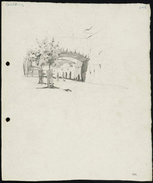 An image of recto: Argyle Cut, The Rocks verso: Entrance to the GPO, Brisbane by Lloyd Rees