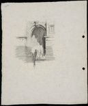 Alternate image of recto: Argyle Cut, The Rocks verso: Entrance to the GPO, Brisbane by Lloyd Rees