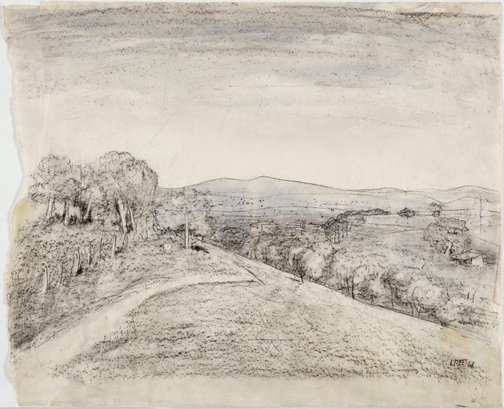 An image of Bathurst countryside by Lloyd Rees