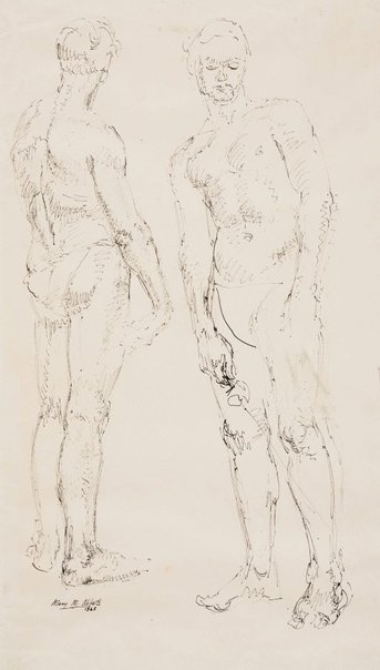 An image of Two figures by Mary Abbott
