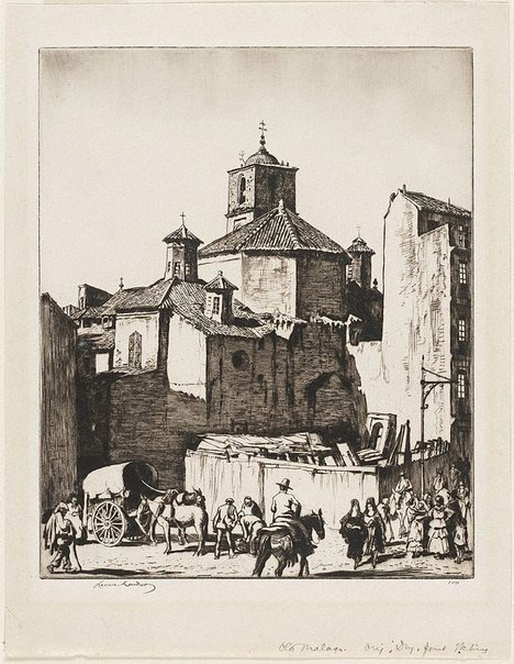 An image of Santiago, Malaga by Lionel Lindsay