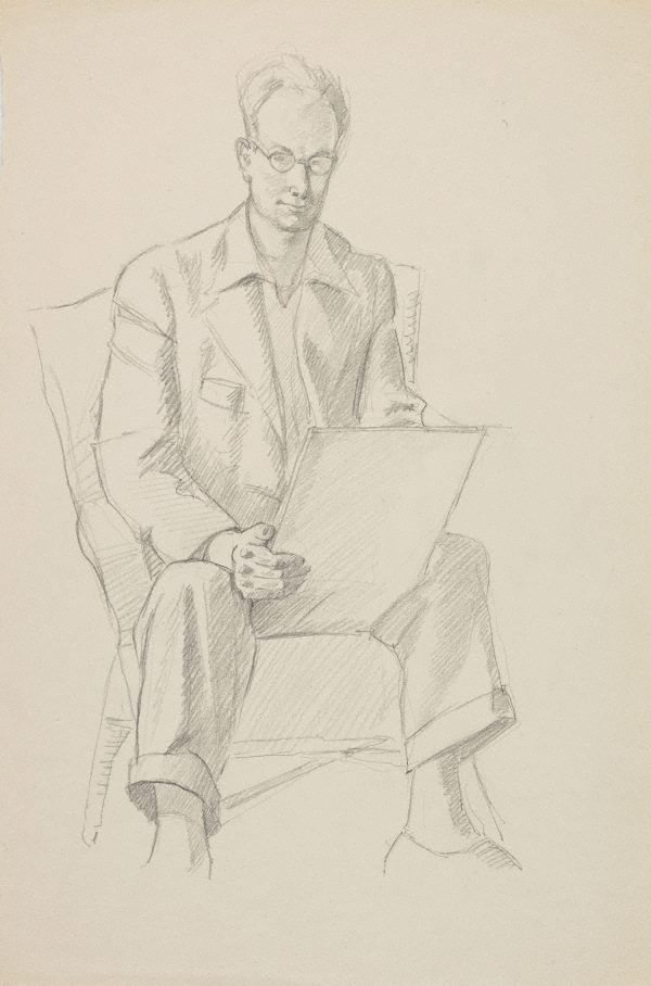 An image of (Self portrait, seated)