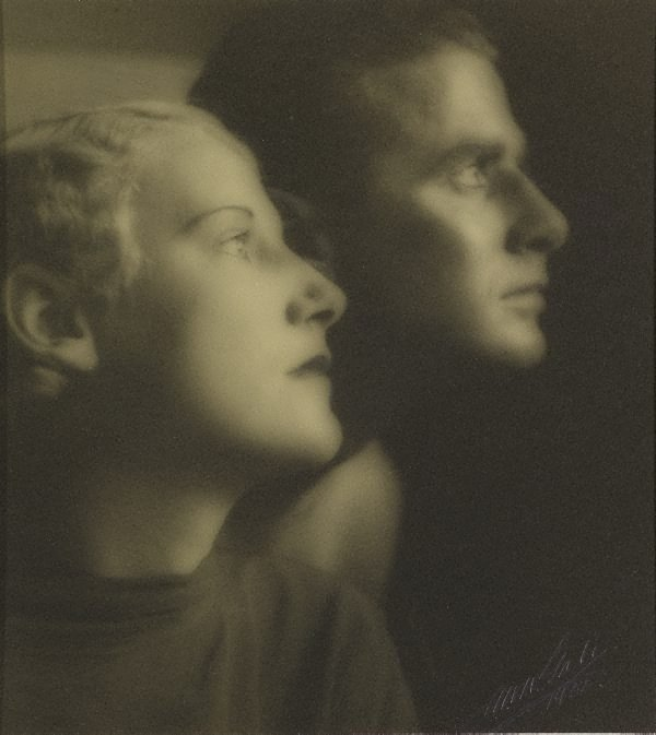 An image of Untitled (double portrait of a man and woman)