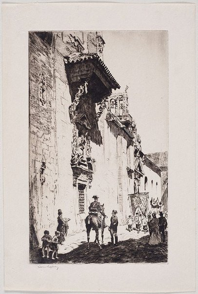 An image of Church in Seville by Lionel Lindsay