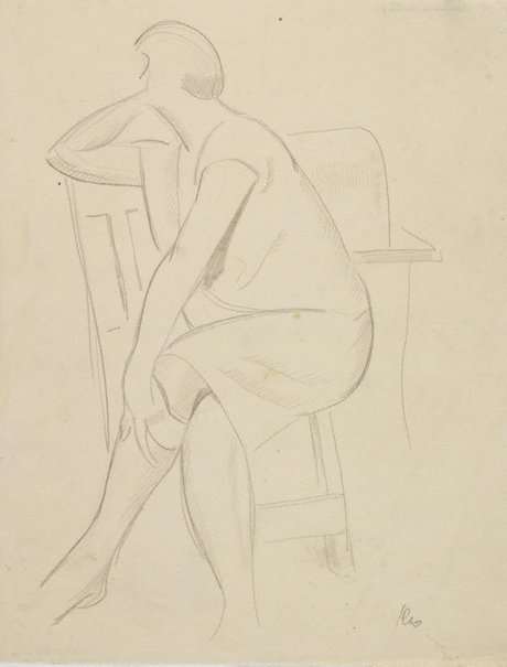 An image of (Seated woman) by Roland Wakelin