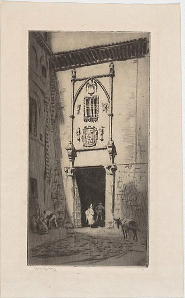 An image of Doorway by Lionel Lindsay