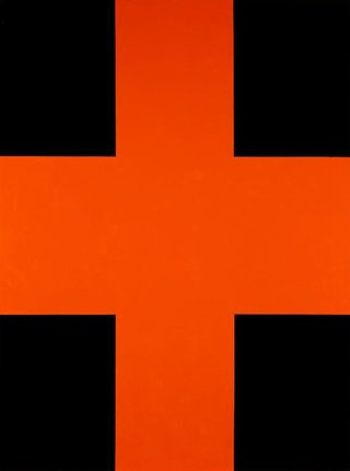 AGNSW collection John Nixon Black and orange cross (1992) 51.1998
