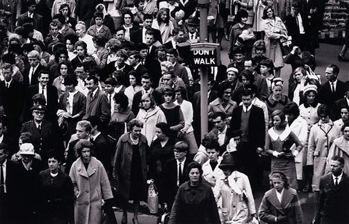 An image of Pedestrians, Melbourne by David Moore