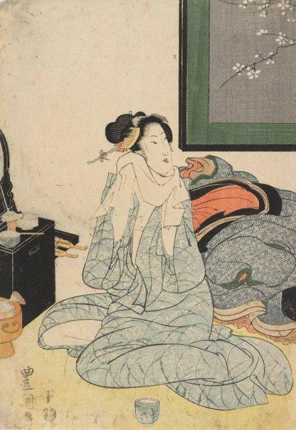 An image of Courtesan after bath by Utagawa Toyokuni