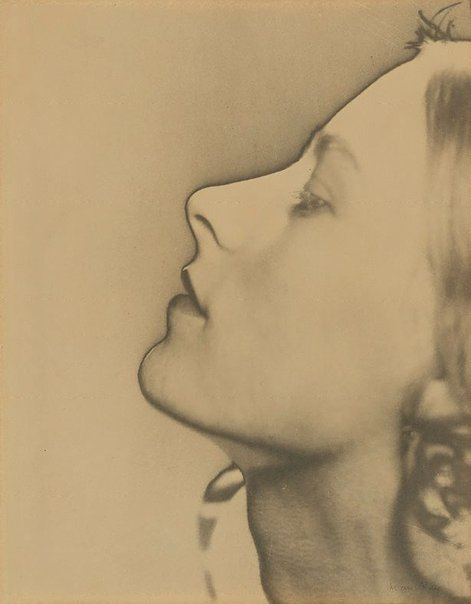 An image of Untitled (solarised portrait, profile) by Man Ray