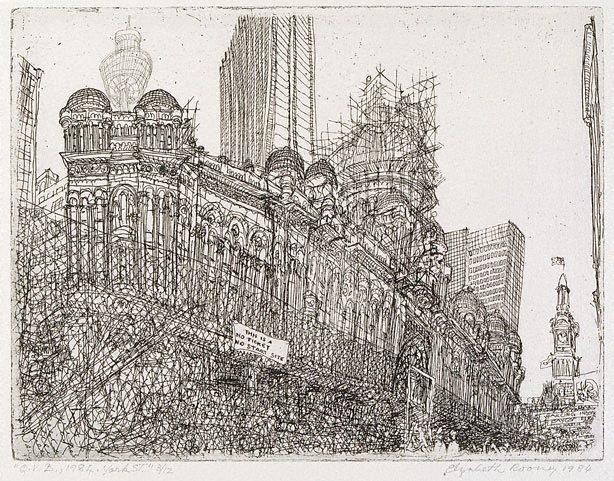 Q.V.B. 1984, York St, (1984) by Elizabeth Rooney