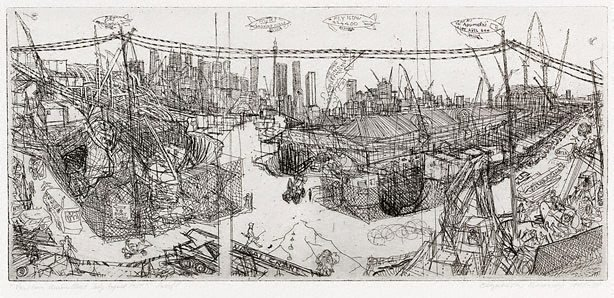View from Union Street July-August 1987, (1987-1988) by Elizabeth Rooney