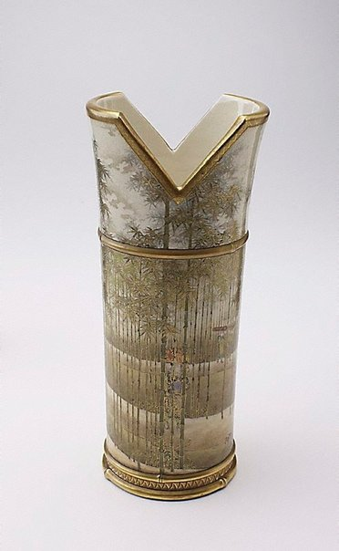 An image of Vase modelled in the shape of a quiver by Satsuma ware