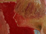 Alternate image of Bust in profile, red background (study) by Pierre Bonnard
