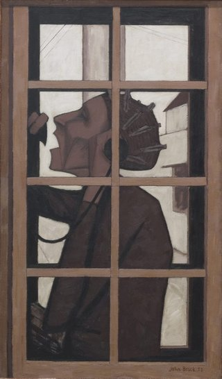 AGNSW collection John Brack The telephone box 1954