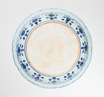 Alternate image of Dish with design of flowers of the four seasons by Jingdezhen ware