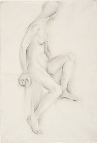 An image of Seated nude by Rah Fizelle