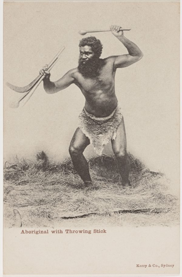 An image of Aboriginal with throwing stick