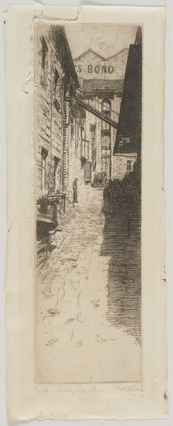 An image of Parbury's Bond, Miller St by Sydney Ure Smith