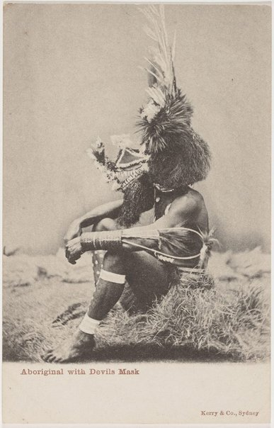 An image of Aboriginal with devils mask by Unknown photographer, Kerry & Co