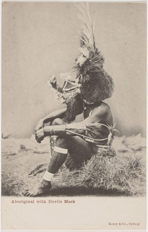An image of Aboriginal with devils mask