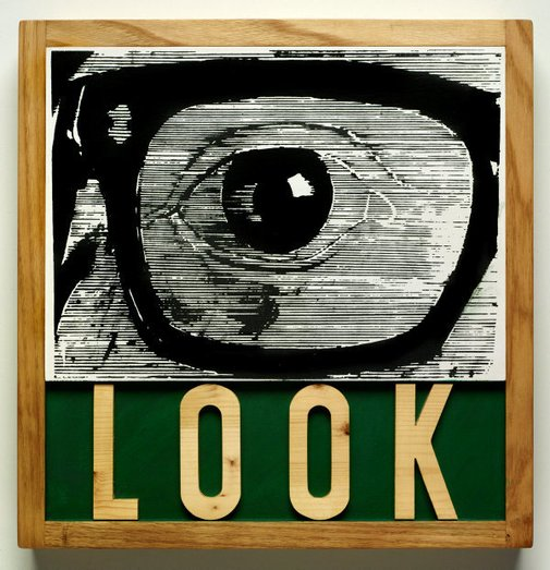 An image of Look by Joe Tilson
