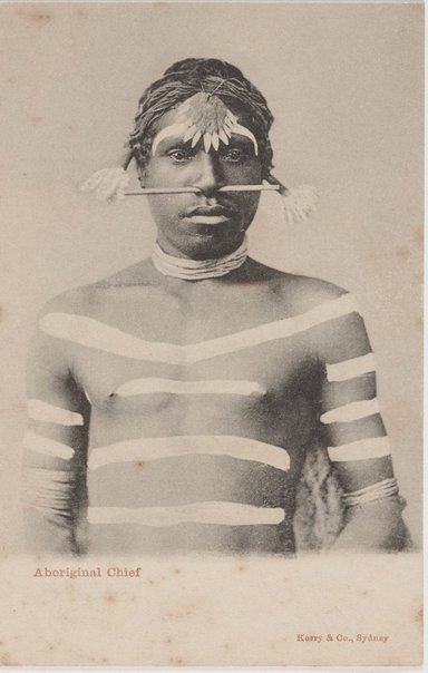 An image of Aboriginal chief by Unknown photographer, Kerry & Co