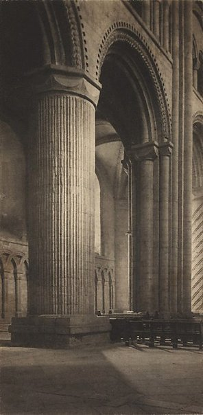 An image of Durham Cathedral by Frederick H Evans