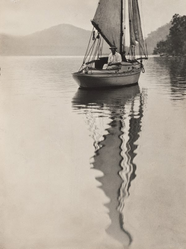 An image of George Malteby on yacht (Hawkesbury River)