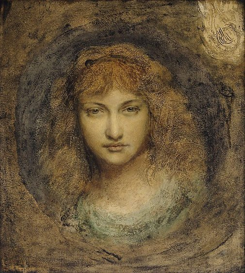 An image of Head of girl by Simeon Solomon