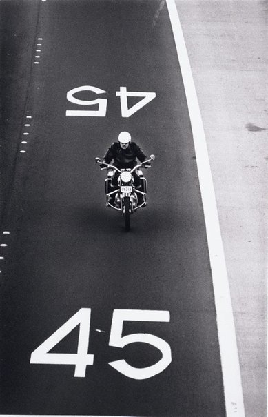 An image of Motorcyclist, Warringah Expressway, Sydney by David Moore