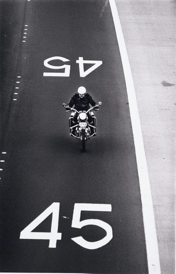 An image of Motorcyclist, Warringah Expressway, Sydney