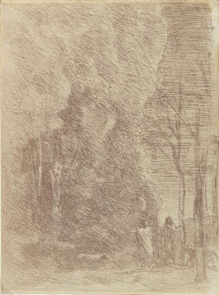 An image of Dante and Virgil by Camille Corot