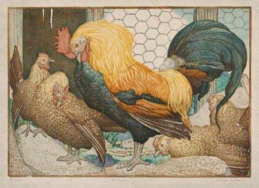 An image of Bantams by Napier Waller