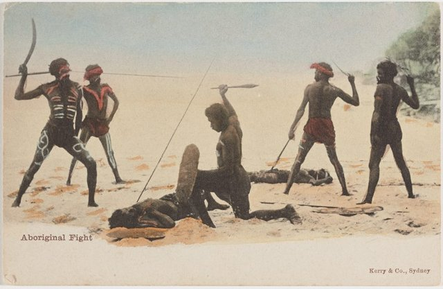 An image of Aboriginal fight