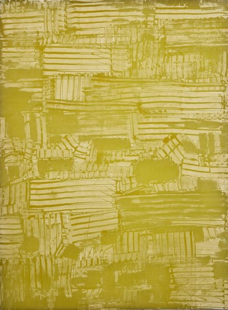 An image of Bright yellow green no.1 by Jean-Pierre Bertrand