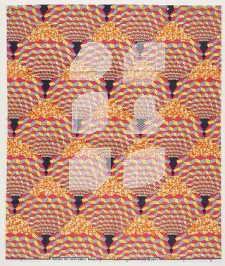 AGNSW collection Jonathan Monk Dessins Isométriques (Afrique Cubique) B2 (2017) 525.2017
